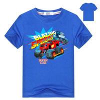ブレイズ アンド ザ モンスターマシーンズ  子供服  プリント Tシャツ 半袖 トップス  Blaze and the Monster Machines グッズ ブルー