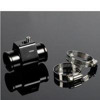 水温センサー アダプター 32mm アルミ 水温計 ラジエーター ゲージ ジョイント パイプホース クランプ 黒 h01409