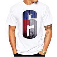 レインボーシックス シージ  ロゴデザイン  Tシャツ  半袖   Tom Clancy's Rainbow Six Siege R6S シージグッズ 4