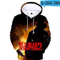 レッド・デッド・リデンプション2 コスプレ パーカー 3Dデザイン  Red Dead Redemption 2 logo ロゴ 風 パーカー コート ジャケット 長袖 男女兼用  9