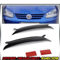 フォルクスワーゲン ヘッドライト アイリッド 2006-2009年 VW Golf GTI Jetta R32 Rabbit Mk5 黒 送料込 h01436