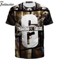 レインボーシックス シージ   3Dデザイン   Tシャツ Tom Clancy's Rainbow Six Siege ユニセックス R6S シージグッズ
