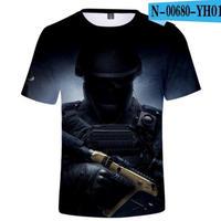 レインボーシックス シージ  ゲーミング 3Dプリント Tシャツ  半袖   Tom Clancy's Rainbow Six Siege R6S シージグッズ  00680