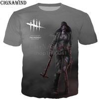 デッドバイデイライト 男性  女性 3D デザイン プリントTシャツ 男の子 半袖  5