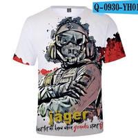 レインボーシックス シージ  ゲーミング 3Dプリント Tシャツ  半袖   Tom Clancy's Rainbow Six Siege R6S シージグッズ  o930