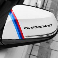 BMW ステッカー 2個入 E39 E46 E39 E90 E60 E30 F30 F30 Mパフォーマンス ロゴ ドアミラー h00219