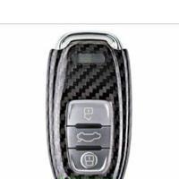 アウディ キーケース Audi Q5 A4 A5 A8 S5 A6 カーボンファイバー リモートケース h00293