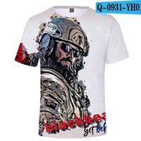 レインボーシックス シージ  ゲーミング 3Dプリント Tシャツ  半袖   Tom Clancy's Rainbow Six Siege R6S シージグッズ  o931