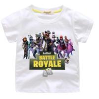 フォートナイト fortnite 子供服  プリントTシャツ ユニセックス カジュアル半袖Tシャツ トップス  ホワイト