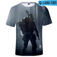 レインボーシックス シージ  ゲーミング 3Dプリント Tシャツ  半袖   Tom Clancy's Rainbow Six Siege R6S シージグッズ  1486