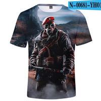 レインボーシックス シージ  ゲーミング 3Dプリント Tシャツ  半袖   Tom Clancy's Rainbow Six Siege R6S シージグッズ  00681