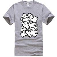 ゲームグッズ アンダーテール Undertale   Annoying dog たくさん うざい犬  大量 うざいイヌ Tシャツ  グレイ