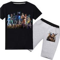 フォートナイト fortnite 子供服   Tシャツ+パンツのセット  ユニセックス カジュアル  パジャマ  1