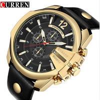 Curren メンズクォーツ時計 トップブランド 高級デザイナー腕時計 海外ブランド品
