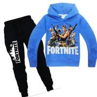 フォートナイト fortnite 子供服  スウェット 上下セット  ユニセックス カジュアル半袖Tシャツ トップス  パジャマ  レッド  ブルー