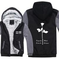 高品質デペッシュ·モード Depeche Mode フリースパーカー  スウェット 衣装 コスチューム 小道具 海外限定 9