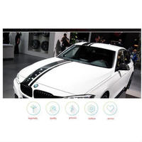 BMW ステッカー フード ルーフ トランク エンジンカバーリア レーシングストライプ ビニールデカール 3枚セット F30 31 32 34 36 E90 E92 E46 M3 M4 h00022