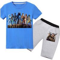 フォートナイト fortnite 子供服   Tシャツ+パンツのセット  ユニセックス カジュアル  パジャマ  7