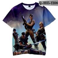 フォートナイト fortnite 子供服  3Dデザイン Tシャツ ユニセックス カジュアル半袖Tシャツ トップス  バトルロワイヤル  5