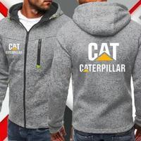 CAT キャット キャタピラー  ロゴ パーカー   カーグッズ   ジップアップ  春 秋  3