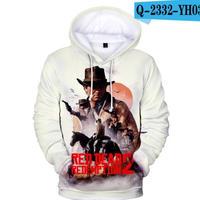レッド・デッド・リデンプション2 コスプレ パーカー 3Dデザイン  Red Dead Redemption 2 logo ロゴ 風 パーカー コート ジャケット 長袖 男女兼用  8