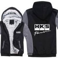 高品質  HKS エッチケーエス   あったかい フリースパーカー ジップアップ  衣装 コスチューム 小道具 海外限定 6