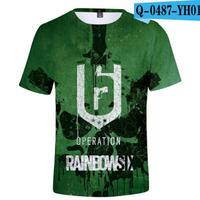 レインボーシックス シージ  ゲーミング 3Dプリント Tシャツ  半袖   Tom Clancy's Rainbow Six Siege R6S シージグッズ  3
