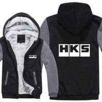 高品質  HKS エッチケーエス   あったかい フリースパーカー ジップアップ  衣装 コスチューム 小道具 海外限定 3