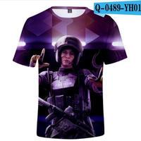 レインボーシックス シージ  ゲーミング 3Dプリント Tシャツ  半袖   Tom Clancy's Rainbow Six Siege R6S シージグッズ  5