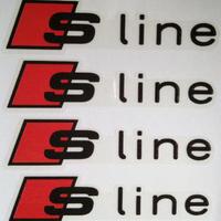 アウディ ステッカー Sline 4個入 ドア Audi A6 A5 A7 A3 A4 Q3 Q5 S4 S6 S8 TT h00391