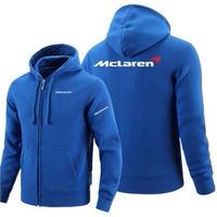 高品質 マクラーレン McLaren ロゴ ジップアップ パーカー 衣装 コスチューム 小道具 海外限定 非売品 映画グッズ 映画関連  ブルー