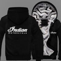 高品質 インディアンモーターサイクル あったかいフード ジップ フリースパーカー 仮装 衣装 コスチューム 小道具 海外限定  Indian Motorcycle