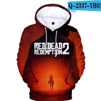 レッド・デッド・リデンプション2 コスプレ パーカー 3Dデザイン  Red Dead Redemption 2 logo ロゴ 風 パーカー コート ジャケット 長袖 男女兼用  3