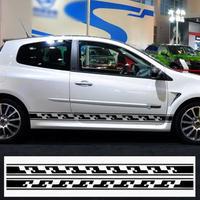 ルノー クリオ ステッカー サイドストライプ スカート グラフィックデカール ボディー ルノースポーツ用 Clio R.S. h00179