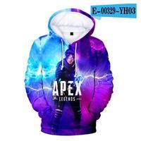 Apex  Legends エーペックスレジェンズ 伝説 3Dデザイン パーカー  ユニセックス カジュアル 長袖 スウェット トップス  21