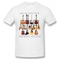 ギター名器 集合 Tシャツ ギタリスト  レスポール フライングV GS レスポール ファイヤーバード  ストラト ユニセックス 男女兼用  ホワイト