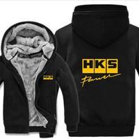 高品質  HKS エッチケーエス   あったかい フリースパーカー ジップアップ  衣装 コスチューム 小道具 海外限定 11