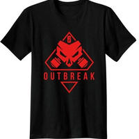 レインボーシックス シージ  ゲーム Outbreak ロゴ Tシャツ Tom Clancy's Rainbow Six Siege ユニセックス R6S シージグッズ