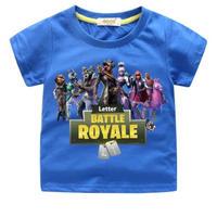フォートナイト fortnite 子供服  プリントTシャツ ユニセックス カジュアル半袖Tシャツ トップス  ブルー