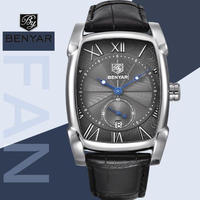 benyar 高級 腕時計 クラシック スクエア ファッション メンズ 腕時計