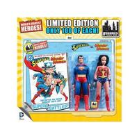 """ディーシー フィギュアーズトイ FIGURES TOY COMPANY DC Retro 8"""" Limited Edition Two Pack - Wonder Woman & Superman"""