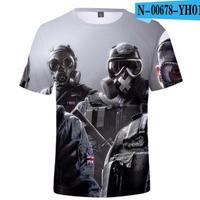 レインボーシックス シージ  ゲーミング 3Dプリント Tシャツ  半袖   Tom Clancy's Rainbow Six Siege R6S シージグッズ  00678