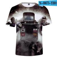 レインボーシックス シージ  ゲーミング 3Dプリント Tシャツ  半袖   Tom Clancy's Rainbow Six Siege R6S シージグッズ  00673