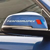 BMW ステッカー カースタイリング 2PCS バックミラー e90 e46 f30 f10 f07 f34 x1 x3 x4 x5 e70 f15 x6 f16 M3 M5 車 h00034