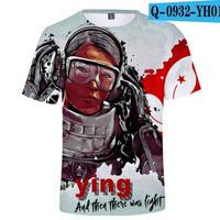 レインボーシックス シージ  ゲーミング 3Dプリント Tシャツ  半袖   Tom Clancy's Rainbow Six Siege R6S シージグッズ  o932