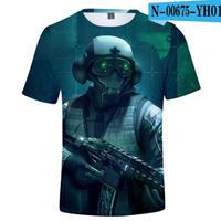 レインボーシックス シージ  ゲーミング 3Dプリント Tシャツ  半袖   Tom Clancy's Rainbow Six Siege R6S シージグッズ  00675