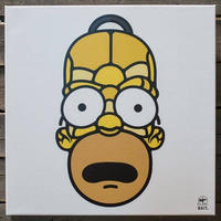 BAIT おもちゃグッズ Toys and Collectibles BAIT x David Flores 48 Inch Canvas - Homer Full Head