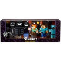 マインクラフト  Mattel Toys フィギュア  Wither Warfare Action Figure Alex, Steve, Wither Skeleton & Deluxe