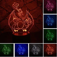リザードン アクリルパネル LED発光 プレゼント クリスマス ギフトにも  pokemon ポケモンgo