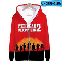 レッド・デッド・リデンプション2 コスプレ パーカー ジップアップ 3Dデザイン  Red Dead Redemption 2 logo ロゴ 風 パーカー コート ジャケット 長袖 男女兼用